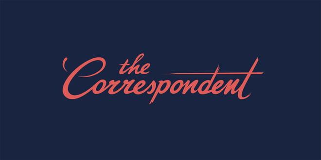 The handwritten logo of The Correspondent