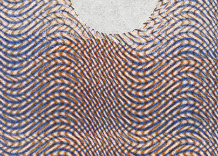 Excerpt of passport - a visual showing a mountain with a river flowing alongside it and the sun above it