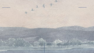 Excerpt from passport - a visual showing a mountain landscape with birds flying above it