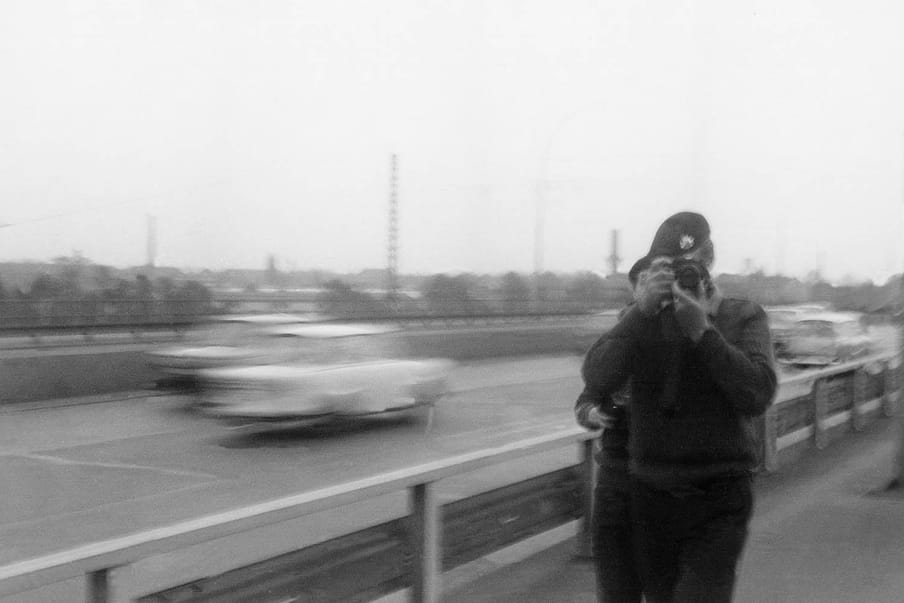 A photograph of a stasi spy photographed by another spy.