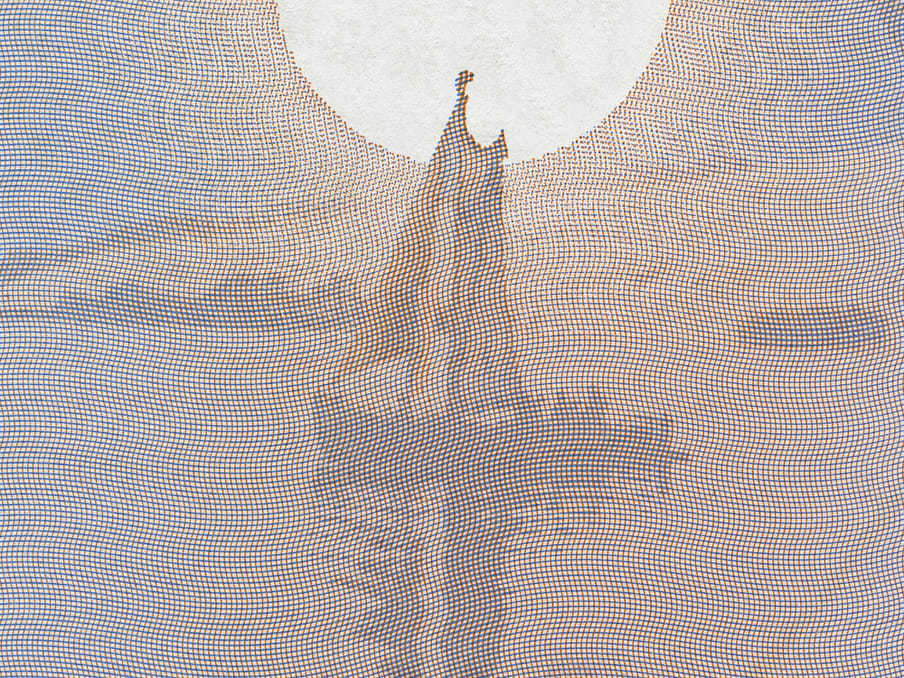 Excerpt from passport, showing a sail boat with the sun above it