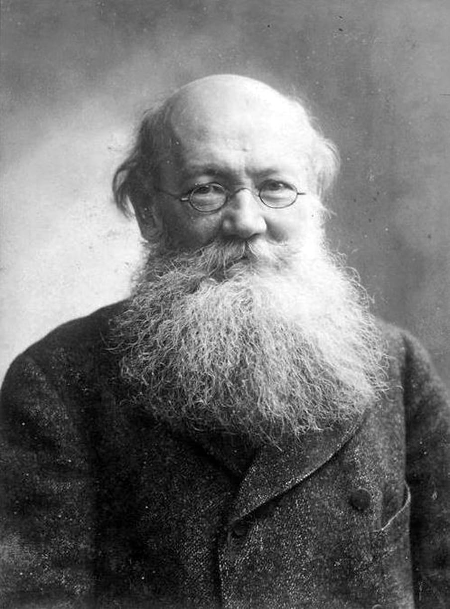 Portrait of a bolding man with glasses and a long white beard.