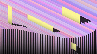 Graphic: illustration papers in different shades of purple and pink that are aligned in a wavy shape with small yellow notes that stick out