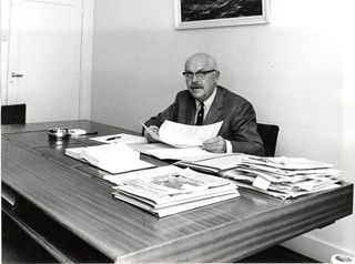 Schimmel at work, private photo collection