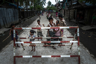 An Aung Mingalar checkpoint in the Western Burmese city of Sittwe. Photo by Andreas Staahl