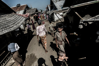 Life isn't much better in Dar Paing, the refugee camp five miles down the road. Photo by Andreas Staahl