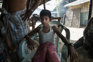 In the Dar Paing refugee camp. Photo by Andreas Staahl