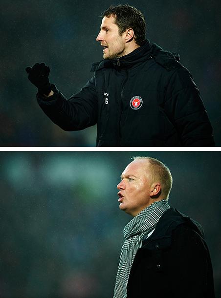 Top: Brian Priske, assistent-coach of FC Midtjylland. Bottom: Glen Riddersholm, coach. Photos: Jan Christensen / Getty Images