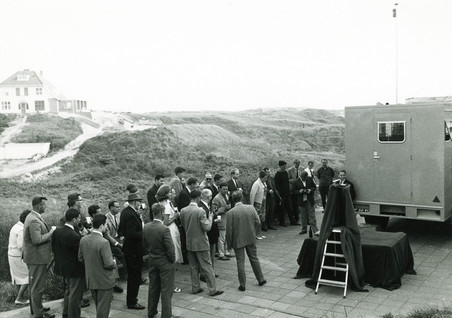 The Dutch Radar Research Station holds a demonstration in the dunes along the Dutch coast, private photo collection