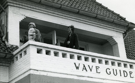 Schimmel on the villa's balcony, private photo collection