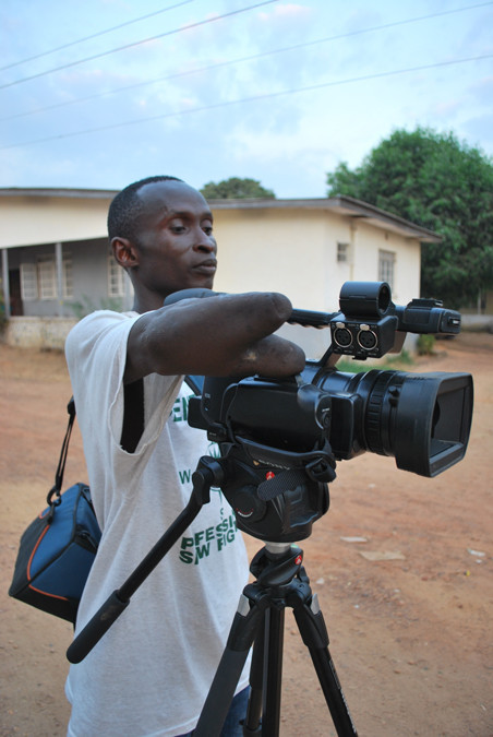 Patrick Lahai, a citizen reporter trained by On Our Radar.  Photo by Laurence Ivil